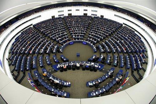 نمایی از پارلمان اروپا در استراسبورگ فرانسه