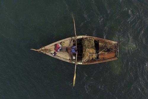 یک ماهیگیر اهل هاییتی