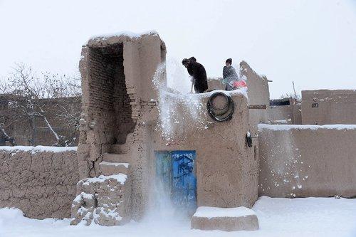 سرما و بارش برف در شهر هرات افغانستان