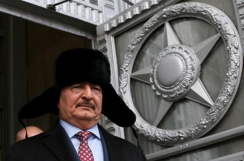 حضور ژنرال خلیفه حفتر فرمانده ارتش لیبی در مسکو برای مذاکرات رسمی با مقامات ارشد روسیه