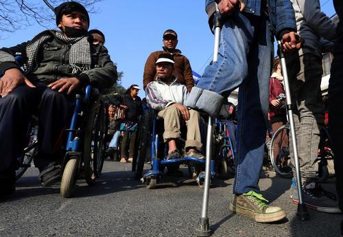 تظاهرات روز جهانی معلولان در کاتماندو نپال