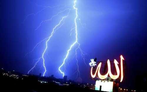 رعد و برق در شهر کویت