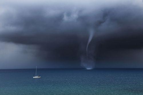 گردباد در دریای آدریاتیک