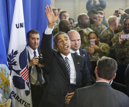 آخرین سخنرانی اوباما در موضوع امنیت ملی آمریکا در پایگاه هوایی