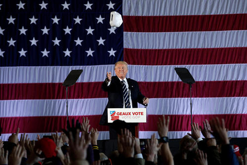 تور سفرهای دونالد ترامپ رییس جمهور منتخب آمریکا برای تشکر از رای مردم – شهر باتون روژ در ایالت لوییزیانا