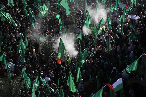 مراسم بیست و نهمین سالگرد تاسیس جنبش حماس در غزه