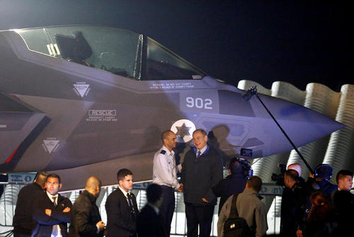 مراسم تحویل دو فروند جنگنده فوق پیشرفته اف 35 آمریکایی به اسراییل