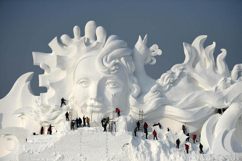 بیست و نهمین نمایشگاه بین المللی سازه های برفی و یخی در هاربین چین
