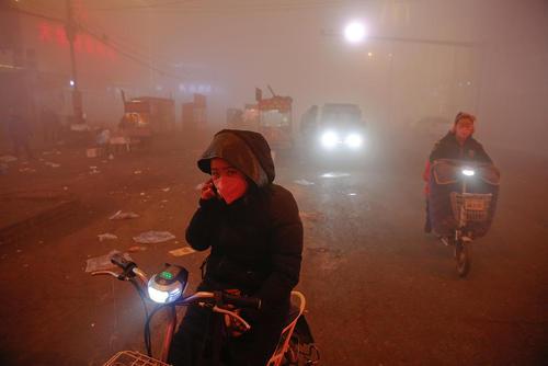 آلودگی شدید هوا در شهرهای چین