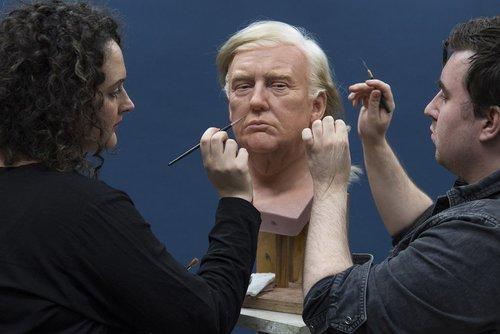 ساخت مجسمه مومی دونالد ترامپ در موزه ای در لندن