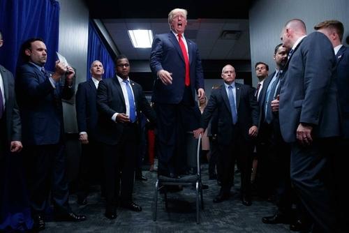 دونالد ترامپ رییس جمهور منتخب آمریکا در جریان رقابت های درون حزبی جمهوریخواهان - گرینویل