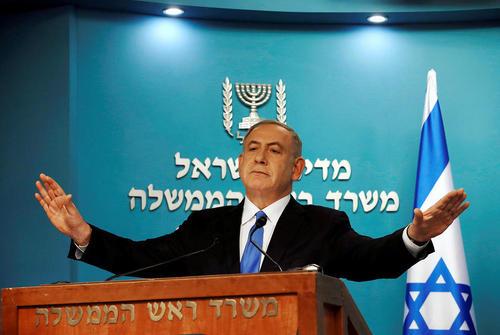 سخنرانی بنیامین نتانیاهو خشمگین از اظهارات اخیر وزیر امور خارجه آمریکا در شهر قدس