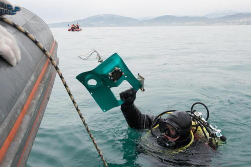 عملیات جستجوی بقایای هواپیمای سقوط کرده روسیه در دریای سیاه
