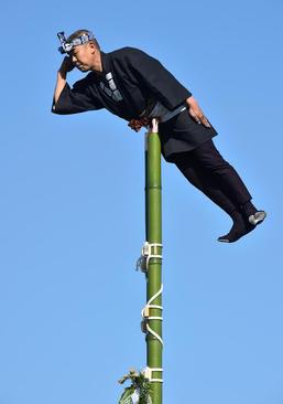 نمایش روی چوب بامبو – توکیو