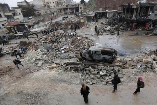 انفجار تروریستی در منطقه اعزاز سوریه