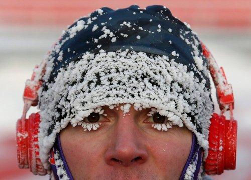 دو ماراتون به مناسبت کریسمس در شهر کرسنویارسک روسیه و در دمای منفی 25 درجه