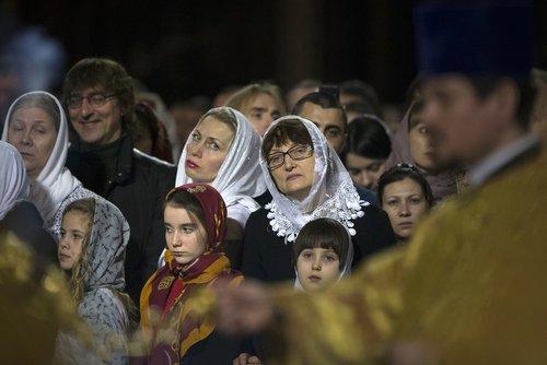 مراسم کریسمس در کلیسای جامع مسکو