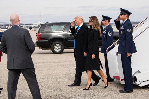 حضور ترامپ و خانواده اش در آیین های مختلف روز پنج شنبه در واشنگتن