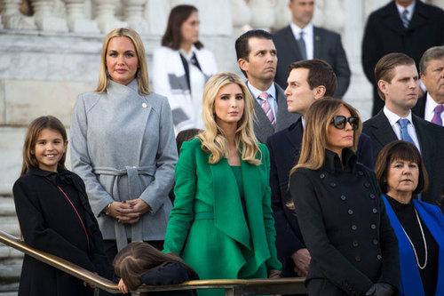 خانواده ترامپ در آیین گورستان آرلینگتون