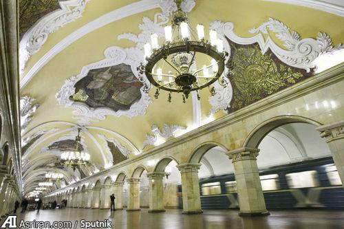 ایستگاه Komsomolskaya در مسکو.