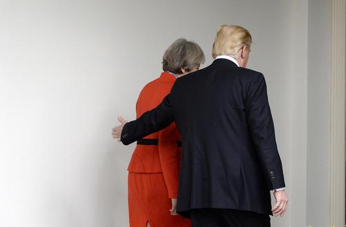 دیدار رهبران بریتانیا و آمریکا در کاخ سفید