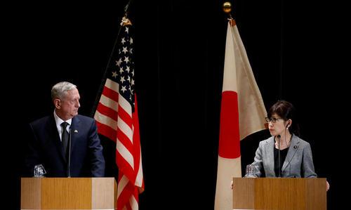 نشست خبری مشترک وزرای دفاع آمریکا و ژاپن – توکیو