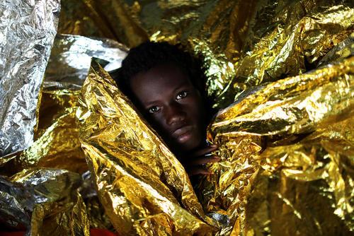 نجات پناهجویان آفریقایی از دریای مدیترانه
