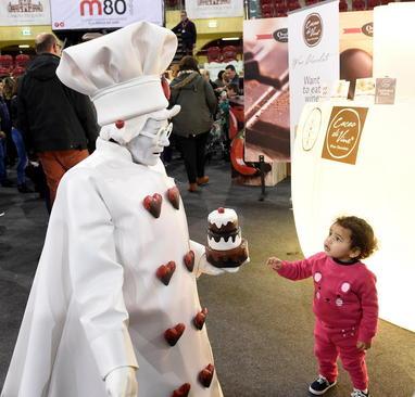 نمایشگاه بین المللی شکلات در یکی از میادین اصلی شهر لیسبون پرتغال