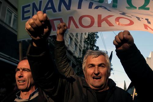 تظاهرات کشاورزان یونانی علیه سیاست های اقتصادی دولت – آتن