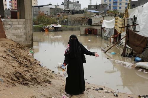 سیل در باریکه غزه