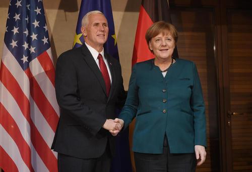 دیدار معاون رییس جمهور با صدر اعظم آلمان در حاشیه کنفرانس امنیتی مونیخ