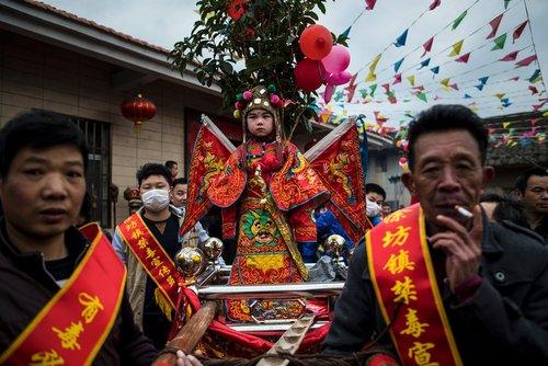 جشنواره ای بومی در شهر توفانگ چین