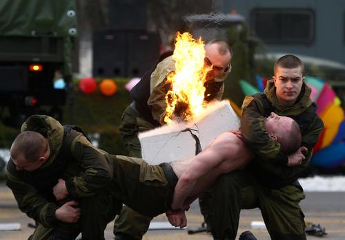 نمایش هنرهای رزمی نیروهای ویژه ارتش بلاروس