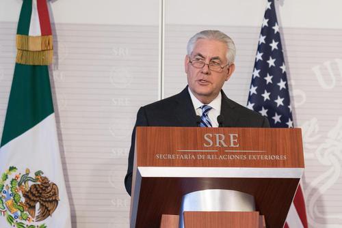وزیر امور خارجه جدید آمریکا در نشست خبری در مکزیکو سیتی