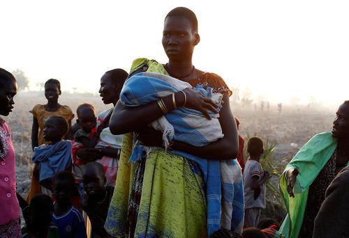 صف توزیع غذا میان شهروندان آواره سودان جنوبی