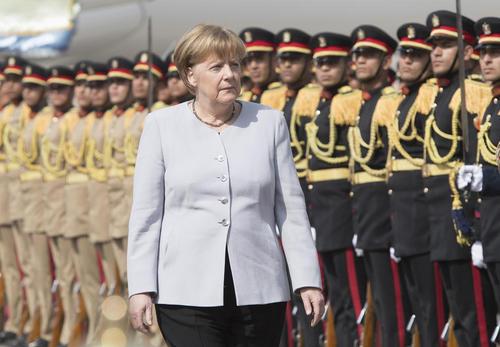 مراسم استقبال رسمی از آنگلا مرکل صدر اعظم آلمان در قاهره