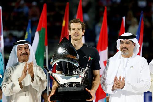 اندی موری تنیس باز بریتانیایی فاتح مسابقات تنیس دوبی شد