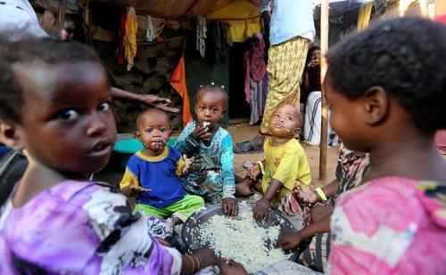 اردوگاه آوارگان در موگادیشو سومالی