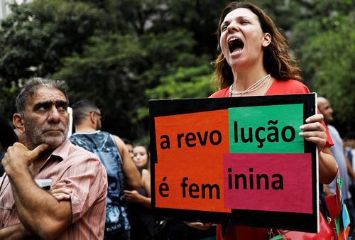 تظاهرات روز جهانی زن در سائوپائولو برزیل
