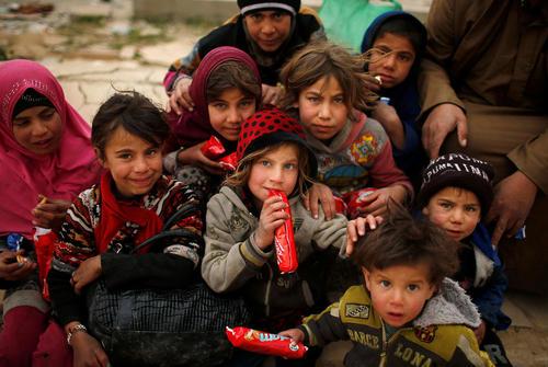 کودکان آواره جنگی در مناطق غربی شهر موصل عراق