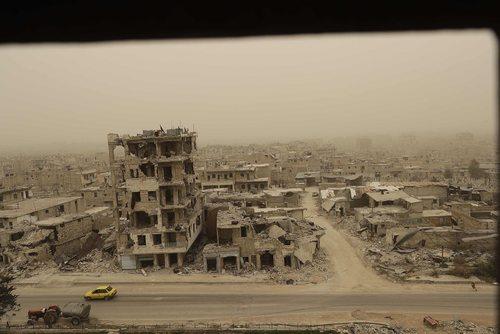 ویرانه های شهر حلب سوریه