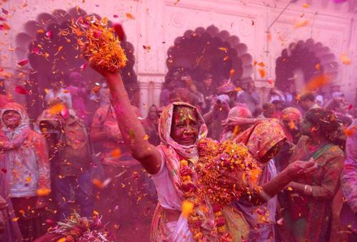 جشن بیوه ها در شهر وینداوان در ایالت اوتارپرادش هند