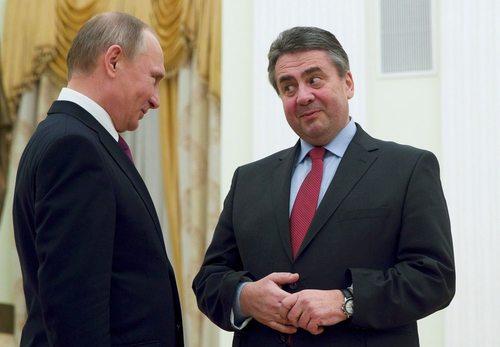 دیدار پوتین با وزیر امور خارجه جدید آلمان در کاخ کرملین در مسکو