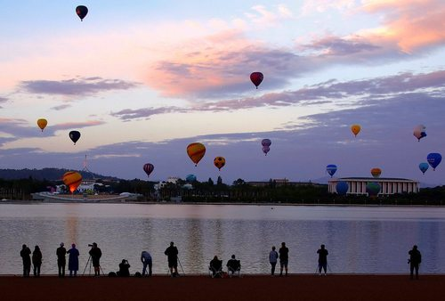 جشنواره بالن در پایتخت استرالیا