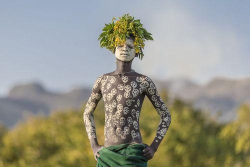 مرد قبیله ای در جنوب اتیوپی