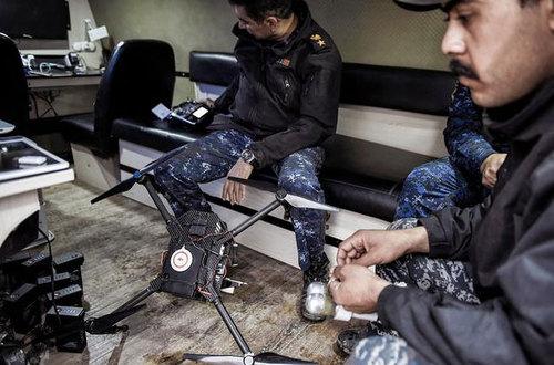 استفاده نیروهای عراقی از پهپادهای مسلح علیه داعش در عملیات موصل
