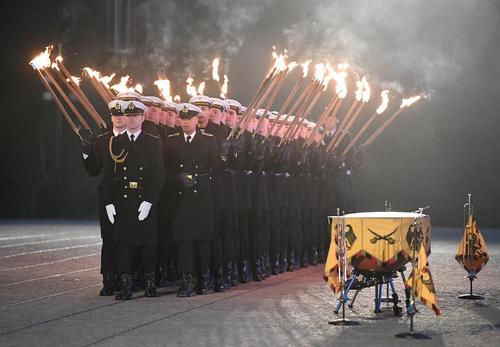 مراسم خداحافظی و پایان دوره یوآخیم گوواک رییس جمهور سابق آلمان در کاخ ریاست جمهوری در برلین