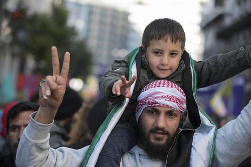 تظاهرات پناهجویان در شهر آتن یونان در اعتراض به تغییر سیاست های مهاجرتی اروپا