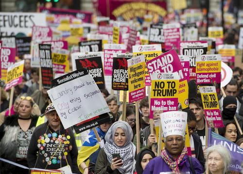 تظاهرات بر ضد نژاد پرستی در لندن
