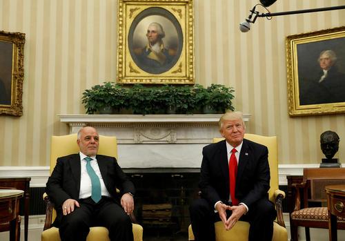 دیدار نخست وزیر عراق با ترامپ در کاخ سفید